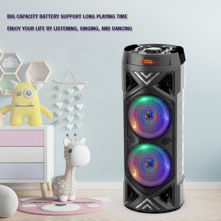 Outdoor subwoofer Speaker stereo disco led big wireless bluetooth party MW-535