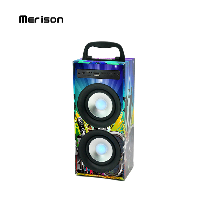 Custom Bluetooth Speaker Outdoor Portable Party Graffiti Wooden Speaker MW-186