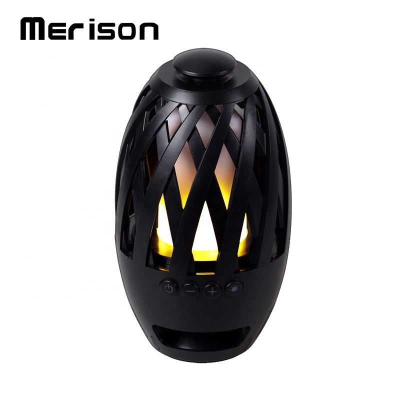 Outdoor Custom Mini Speakers Bluetooth Party Speaker with Led Flame Light MY-M40